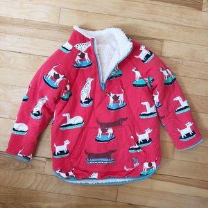 Mini Boden Reversible Pullover Jacket - Size 6-7